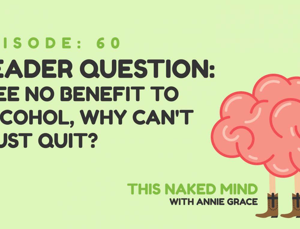 EP 60: Reader Question – I see no benefit to alcohol, why can't I just quit?