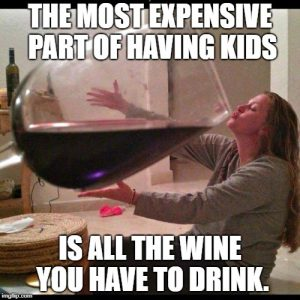wine mom meme