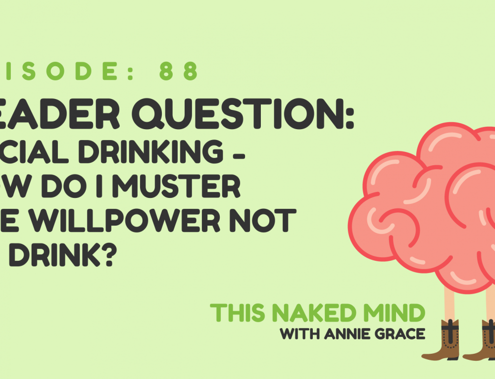 EP 88: Reader Question – Social Drinking – How Do I Muster the Willpower Not to Drink?