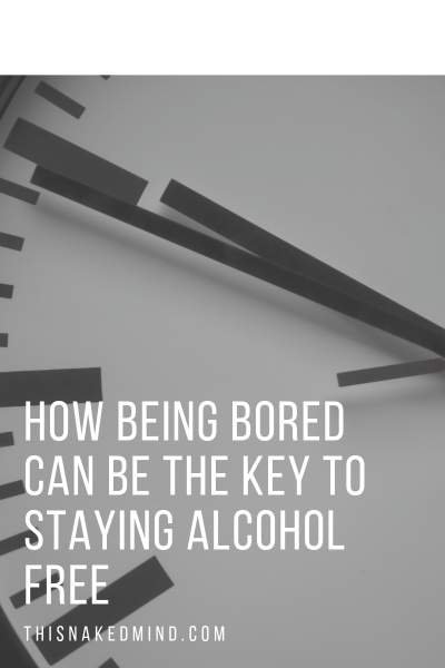being alcohol free is boring