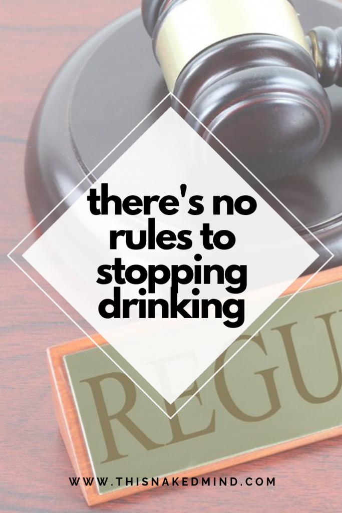 rules to stopping drinking