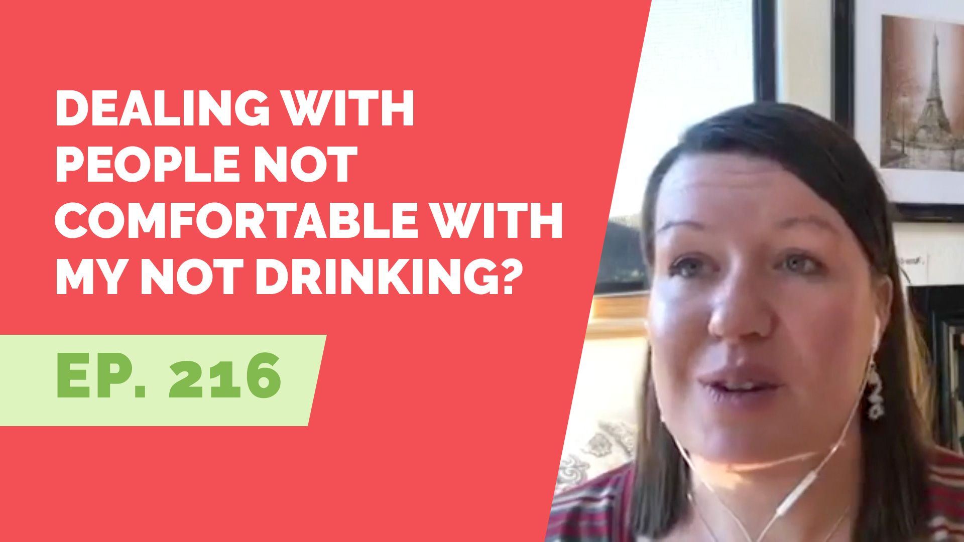 not drinking makes others uncomfortable