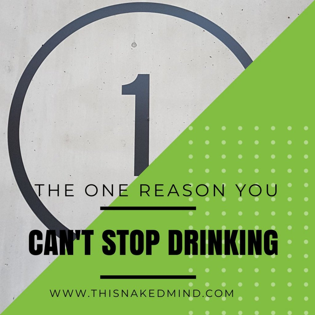reason you can't stop drinking
